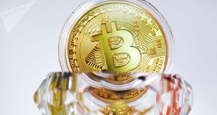 Suvenýrová mince Bitcoin