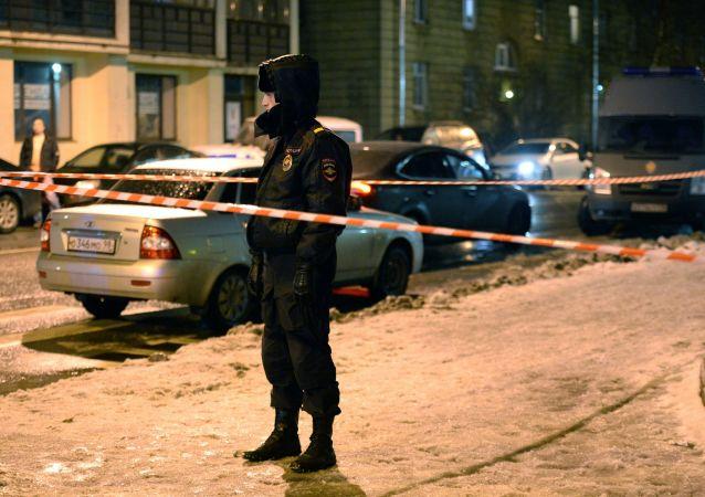 Místo výbuchu v Petrohradě