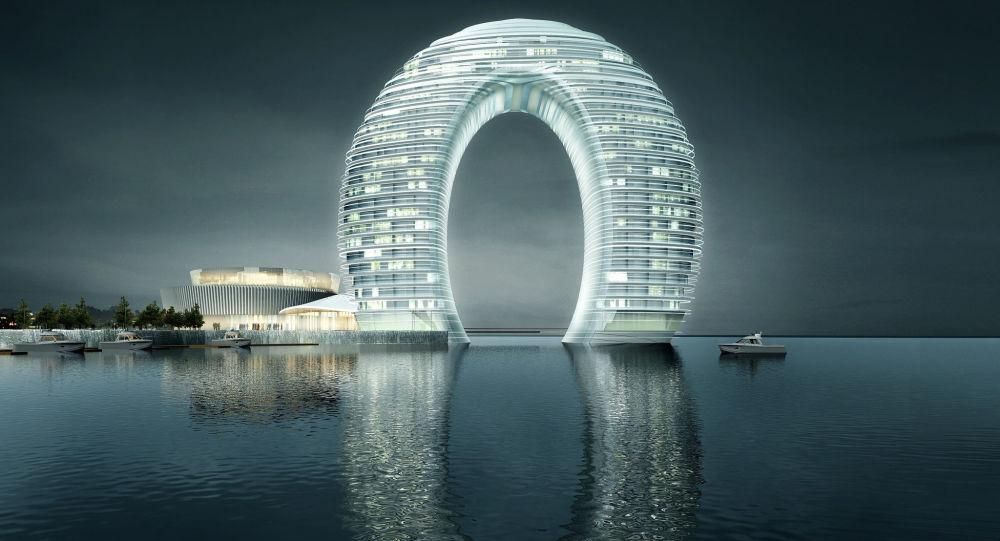 Hotel Sheraton Huzhou Hot Spring Resort v Číně