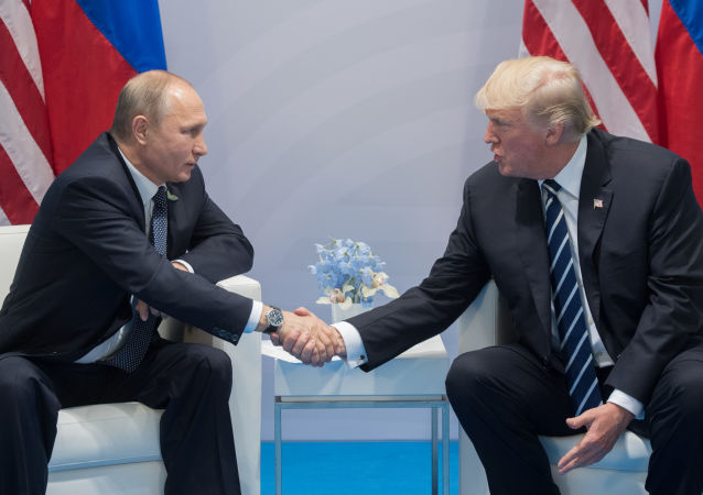 Ruský prezident Vladimir Putin a americký prezident Donald Trump (zprava) na summitu G20