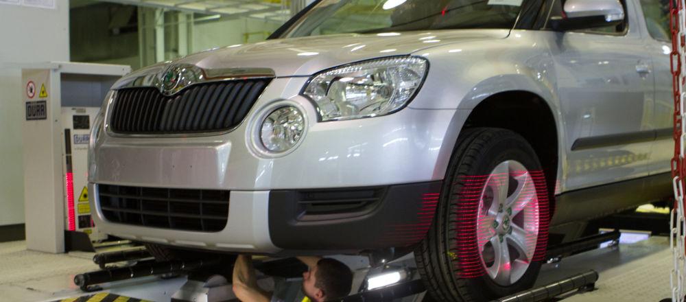 V závodě se vyrábí Škoda Yeti