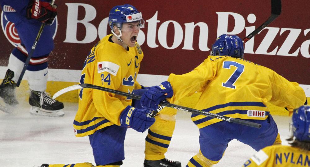 Švédský hokejista Lias Andersson