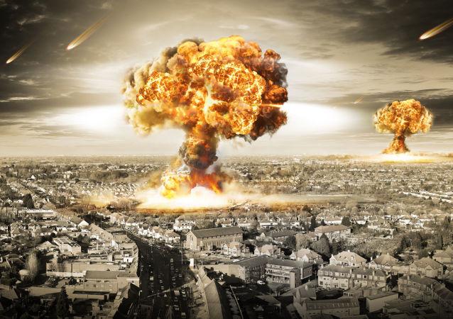Výbuch. Ilustraní foto