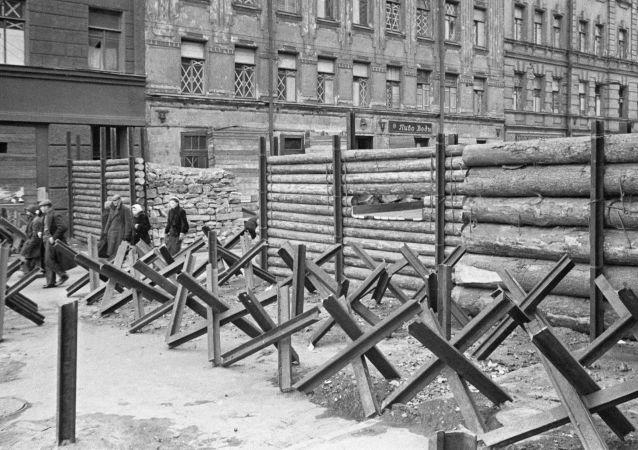 Barikády v Leningradu