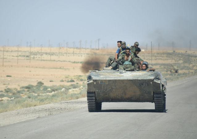 Cesta z Palmyry do města Arak v Sýrii