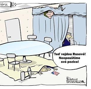Američané se v Davosu schovali před ruskou delegací
