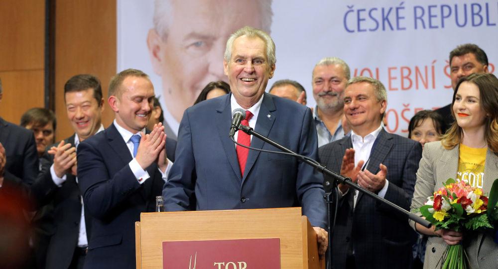 Miloš Zeman, znovuzvolení na druhé funkční období