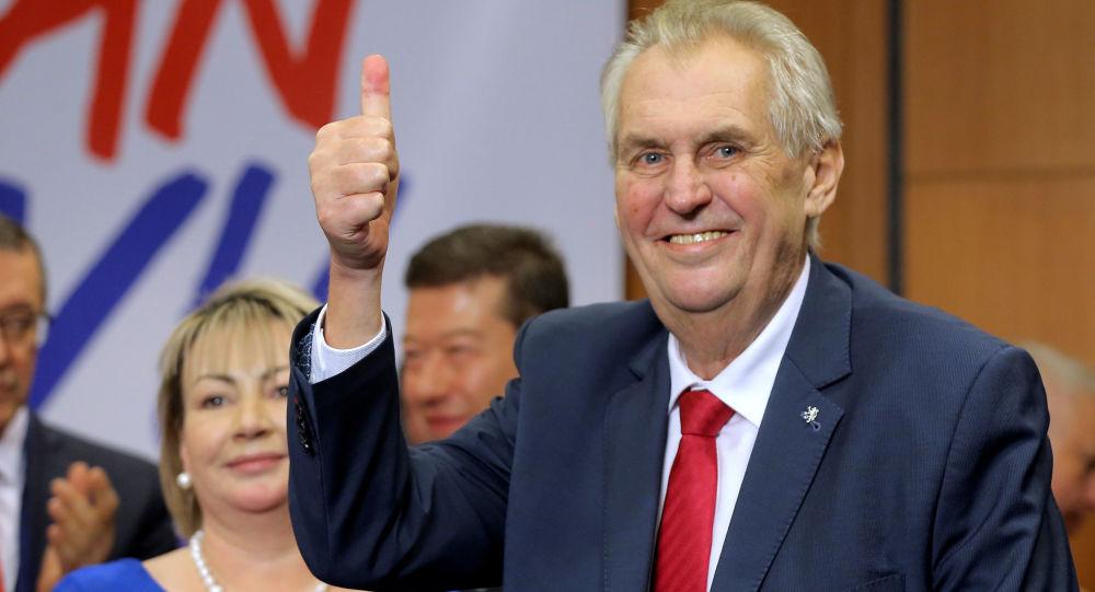 Prezident Miloš Zeman po vítězství ve volbách