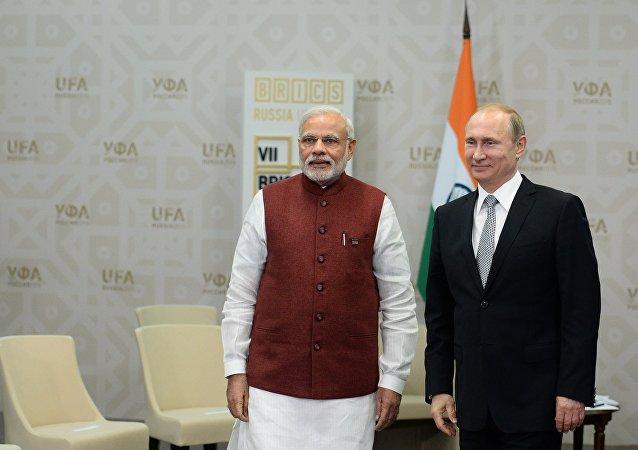 Indický premiér Nárendra Módí a ruský prezident Vladimir Putin