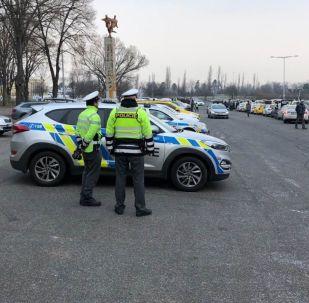 Protestní akce taxikářů