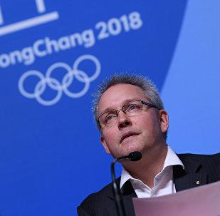 Generální sekretář Mathieu Rib na tiskové konferenci