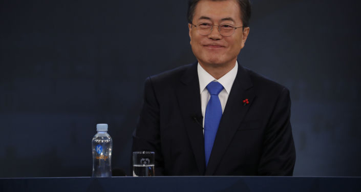Prezident Jižní Koreje Mun Če-in