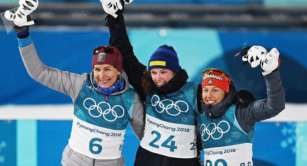 Medailistky z individuálního závodu