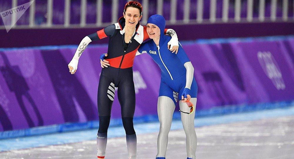 Sáblíková s Voroninovou po závodu na 5000 metrů