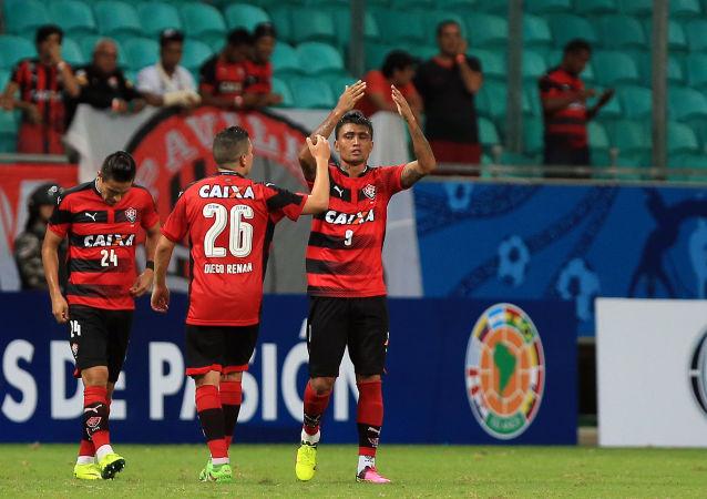 Fotbalisté FK Vitoria během zápasu. Archivní foto