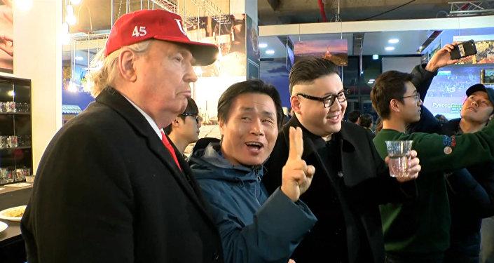 Pivo spojuje: Trump a Kim Čong-un zavítali do Českého domu (VIDEO)