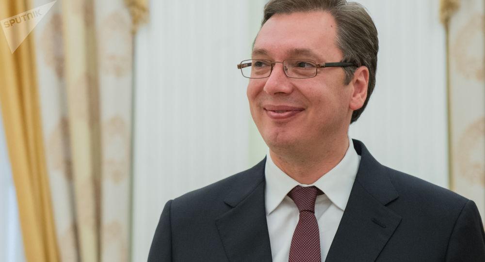 srbský prezident Alexandar Vučić
