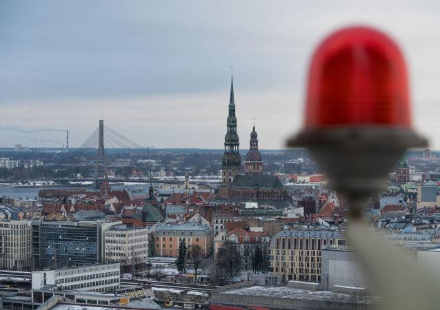 Pohled na Rigu, hlavní město Lotyšska