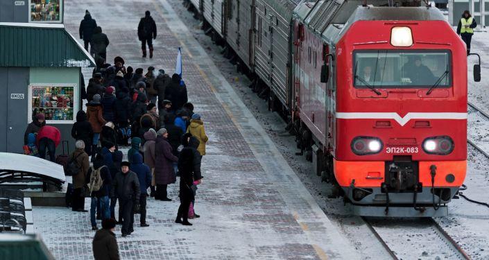 Vlak v Omsku