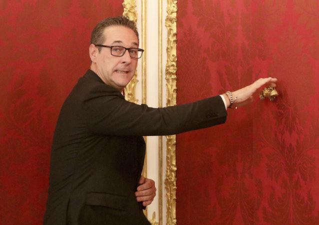 Vůdce pravicové Svobodné strany Rakouska (FPÖ) Heinz-Christian Strache