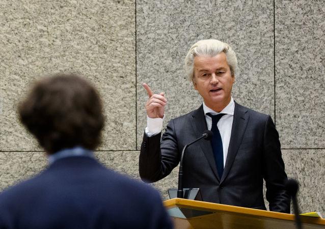 Člen nizozemského parlamentu a předák pravicové Strany svobody Geert Wilders