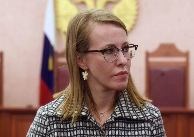 Kandidátka na post prezidenta Xénie Sobčaková
