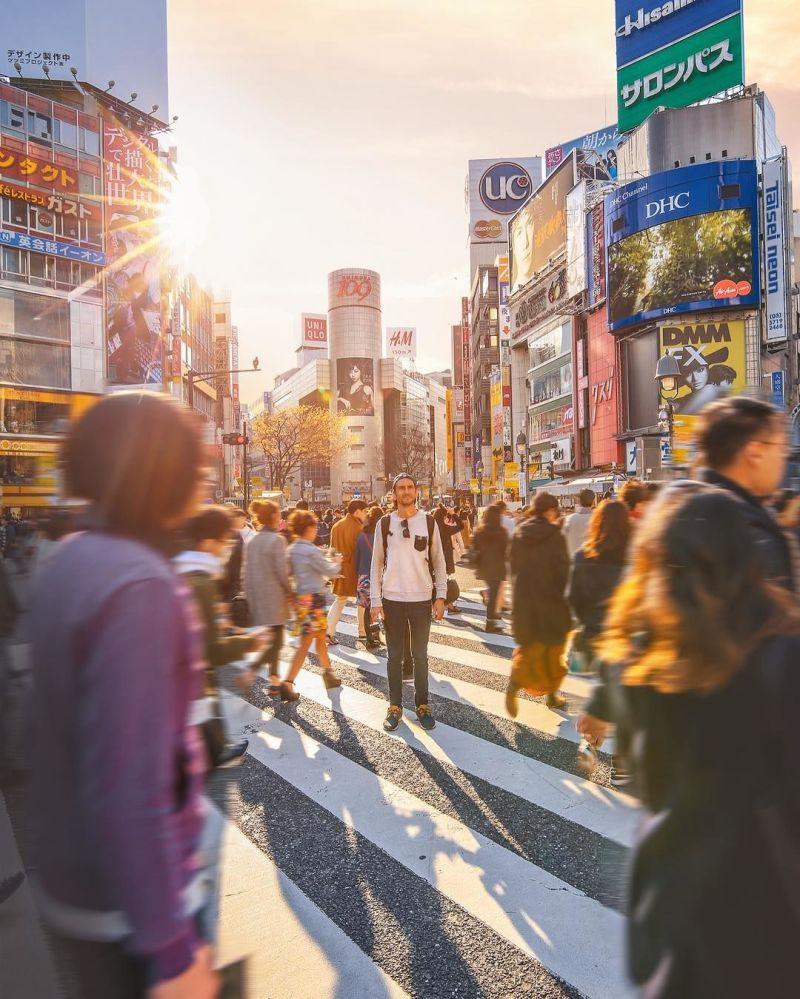 Fotografie hlavních ulic Tokia