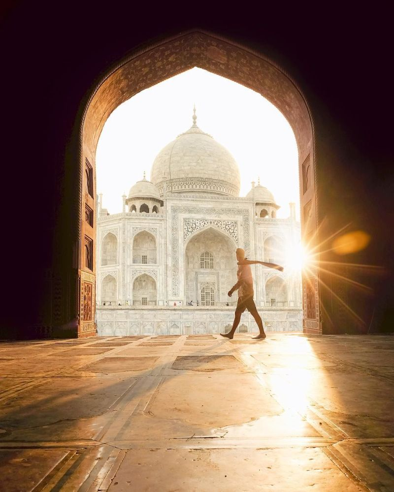 Nádherná architektura Indie na fotografii projektu
