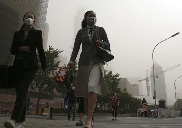 Dívky v centru Pekingu