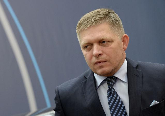 Slovenský ministerský předseda Robert Fico