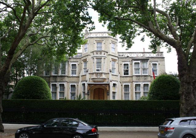 Rusé velvyslanectví v Londýně.