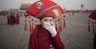 Nejkrásnější hostesky během Všečínského shromáždění národních představitelů v Pekingu