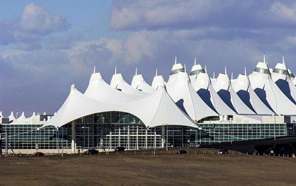 Budova mezinárodního letiště v Denveru