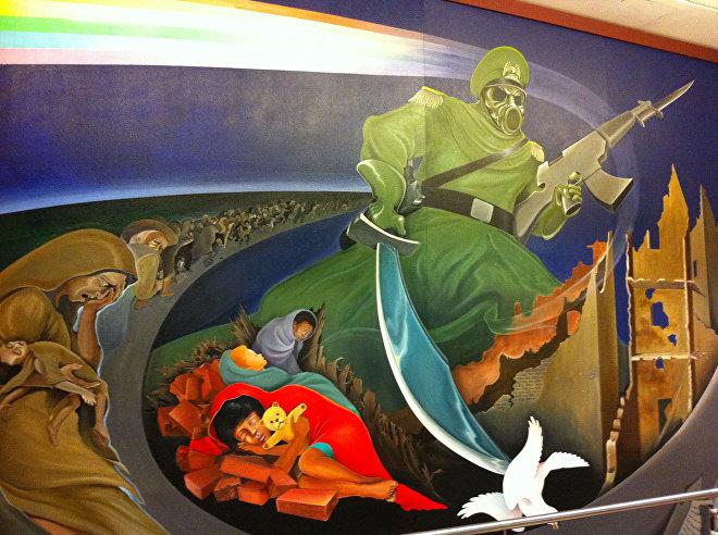 Nástěnné malby v budově letiště v Denveru