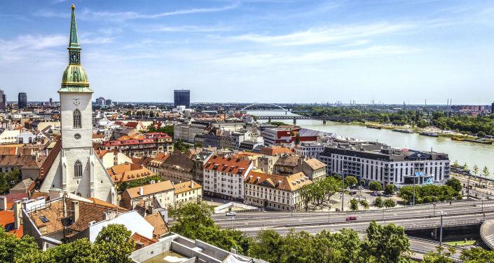 Pohled na Bratislavu. Ilustrační foto