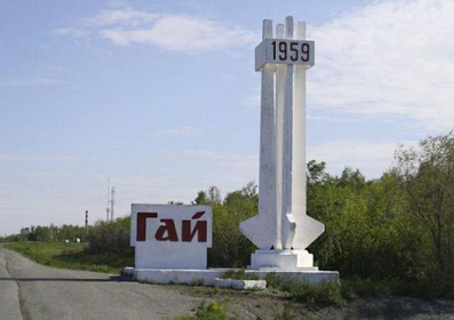 Vjezd do města Gaj, Rusko