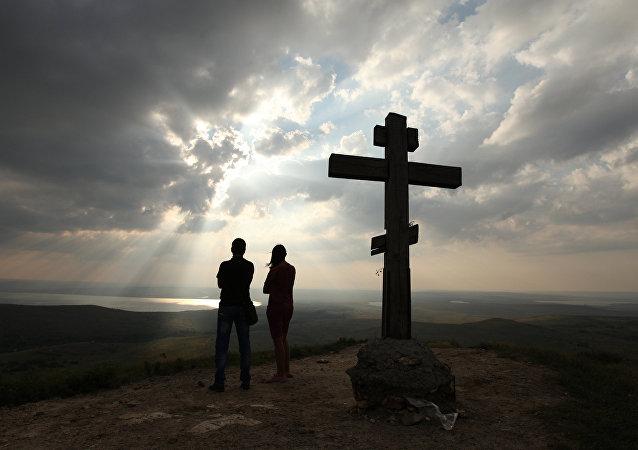 Dřevěný kříž. Ilustrační foto