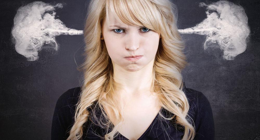 Rozzlobená dívka