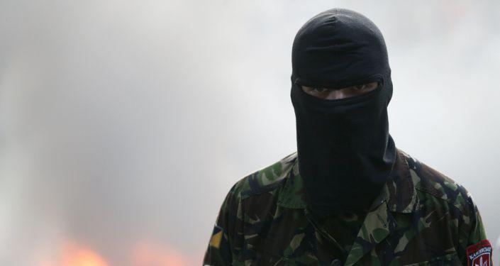 Aktivist Pravého sektoru v Kyjevě
