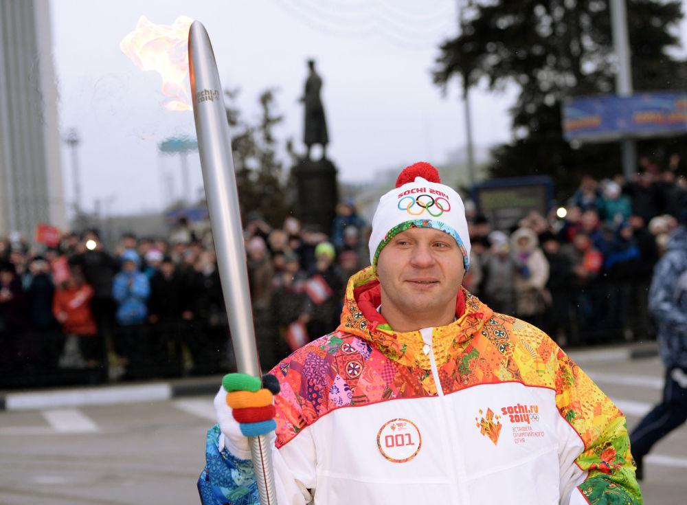 Ruský sportovec Fjodor Jemeljaněnko