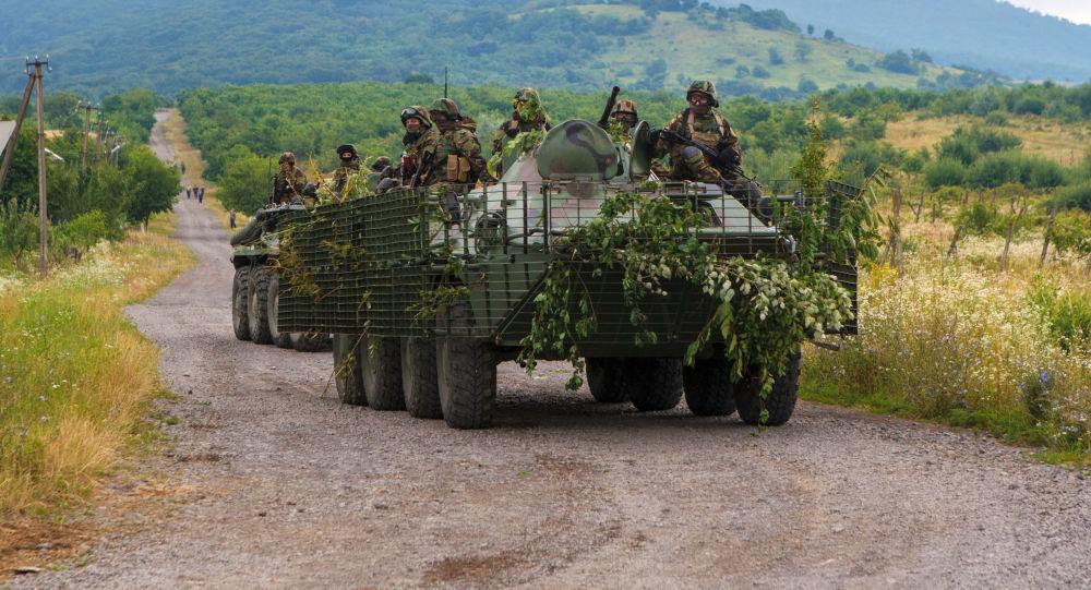Jednotky služby bezpečnosti Ukrajiny nedaleko Mukačeva