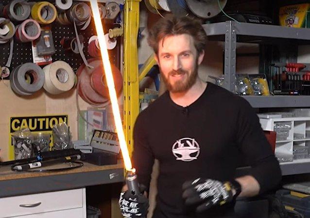 Zkouška světelného meče Džedájů byla natočena