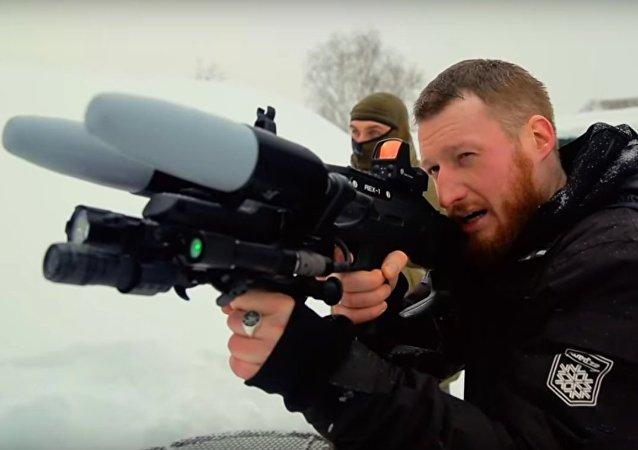 Jak antidronová puška ve skutečnosti usazuje drony