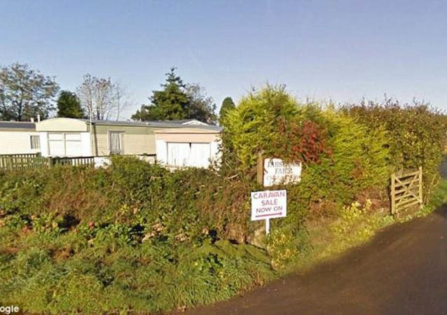 Farma Parsonage a Caravan Park, které vlastnil milionář Wynford Hodge