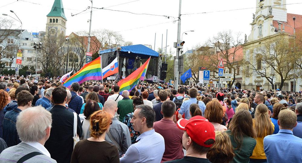 Protesty v Bratislave
