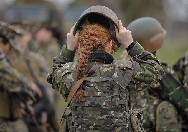 Rumunská vojákyně