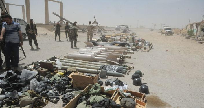 Sklad zbraní radikálů v Sýrii