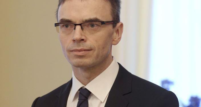 Estonský ministr zahraničí Sven Mikser