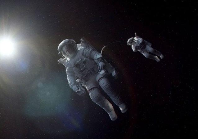 Záběr z filmu Gravitace