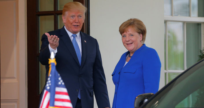 Donald Trump a Angela Merkelová